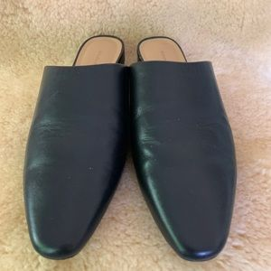 Banana Republic Black Slip on Mules